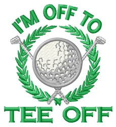 Off To Tee Off embroidery design