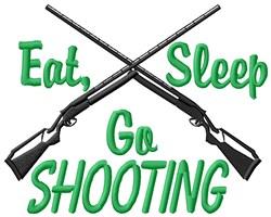 Eat Sleep Go Shooting embroidery design