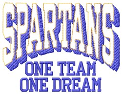 Spartans Our Team embroidery design