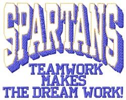 Spartans Teamwork embroidery design