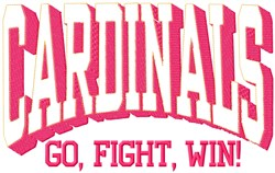 Cardinals Go Fight embroidery design