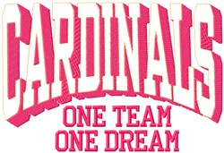 Cardinals Our Team embroidery design