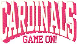 Cardinals Game On embroidery design