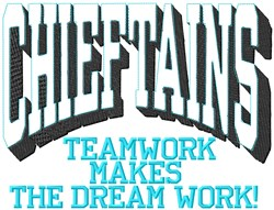 Chieftains Teamwork embroidery design