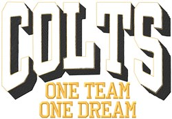Colts Our Team embroidery design