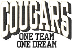 Cougars Our Team embroidery design