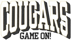 Cougars Game On embroidery design