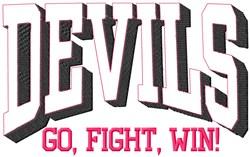 Devils Go Fight embroidery design