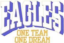 Eagles Our Team embroidery design