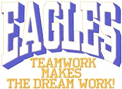 Eagles Teamwork embroidery design