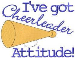 Attitude Horn embroidery design