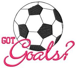 Goals Soccer embroidery design