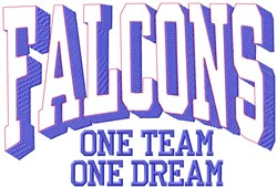 Falcons Our Team embroidery design