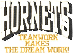 Hornets Teamwork embroidery design
