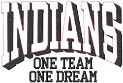 Indians Our Team embroidery design
