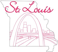 St. Louis embroidery design