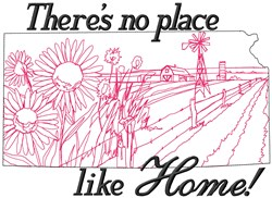No Place Kansas embroidery design