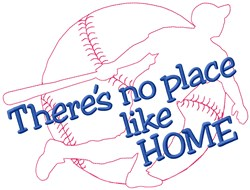 No Place embroidery design