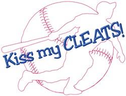 Kiss Baseball embroidery design
