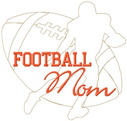 Mom Football embroidery design