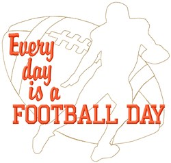 Everyday Football embroidery design