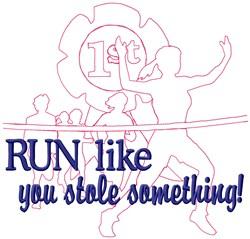 Run Like Race embroidery design