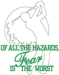 Hazards Golf embroidery design