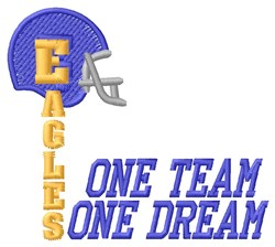 Eagles One Team embroidery design