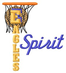 Eagles Basketball Spirit embroidery design