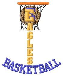 Eagles Basketball embroidery design