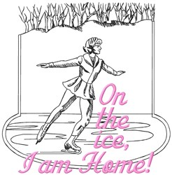Am Home Ice embroidery design