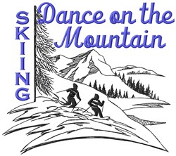 Dance Skiing embroidery design