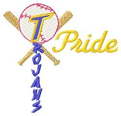 Trojans Baseball Pride embroidery design