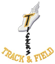 Tigers Track & Field embroidery design