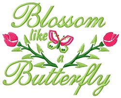 Blossom Butterfly embroidery design