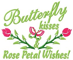 Kisses/Wishes embroidery design