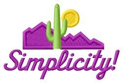 Simplicity Desert embroidery design