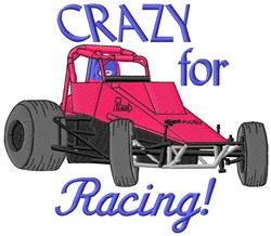 Crazy Racing embroidery design
