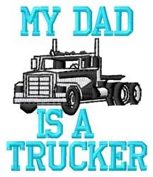 Dad Trucker embroidery design
