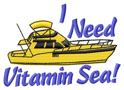 Need Vitamin embroidery design