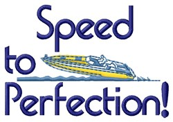 Speed Perfection embroidery design
