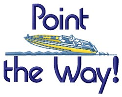 Point the Way embroidery design
