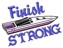 Finish Strong embroidery design