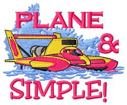 Plane Simple embroidery design