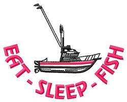 Eat Sleep embroidery design