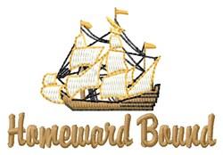 Homeward Ship embroidery design