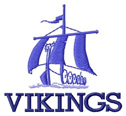 Vikings Ship embroidery design