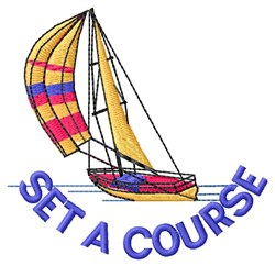 Set Course embroidery design