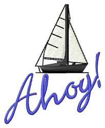 Ahoy Sail embroidery design