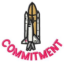Commitment Shuttle embroidery design